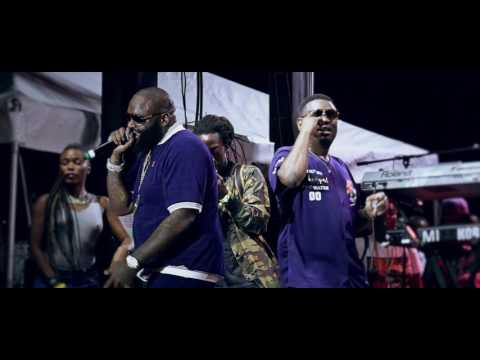 Rick Ross performs his new record