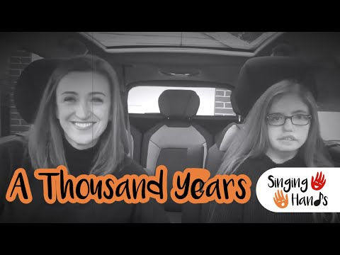 Makaton Carpool Karaoke: A Thousand Years - Singing Hands