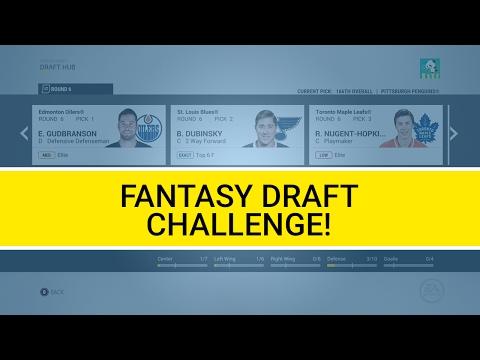 NHL 17 - Fantasy Draft Challenge! (Franchise Mode)