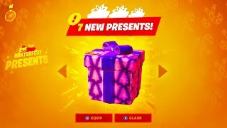 7 NEW PRESENTS IN FORTNITE..! (Winterfest)