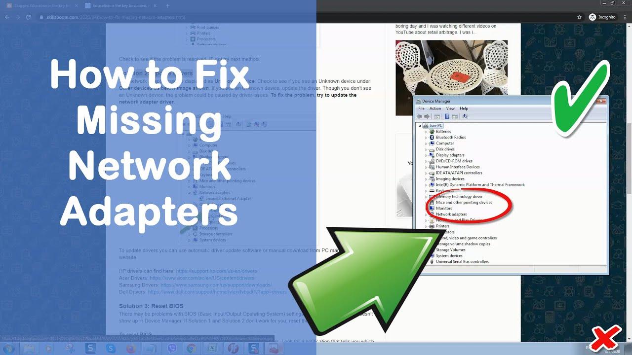 Cách Khắc Phục Lỗi Thiếu Bộ Điều Hợp Mạng Trên Windows - vera star