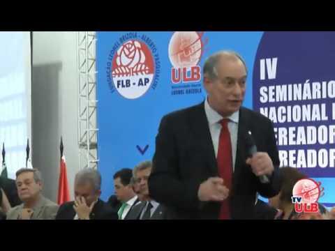 Ciro Gomes no IV Seminário Nacional de Vereadores do PDT (16/02/2017)