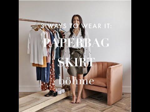 3 Ways to Wear It: Paperbag Skirt