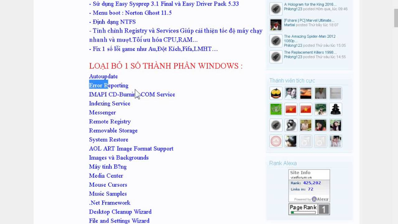 Gioi Thieu Ghost Windows XP sp3 ForGame v4 2016