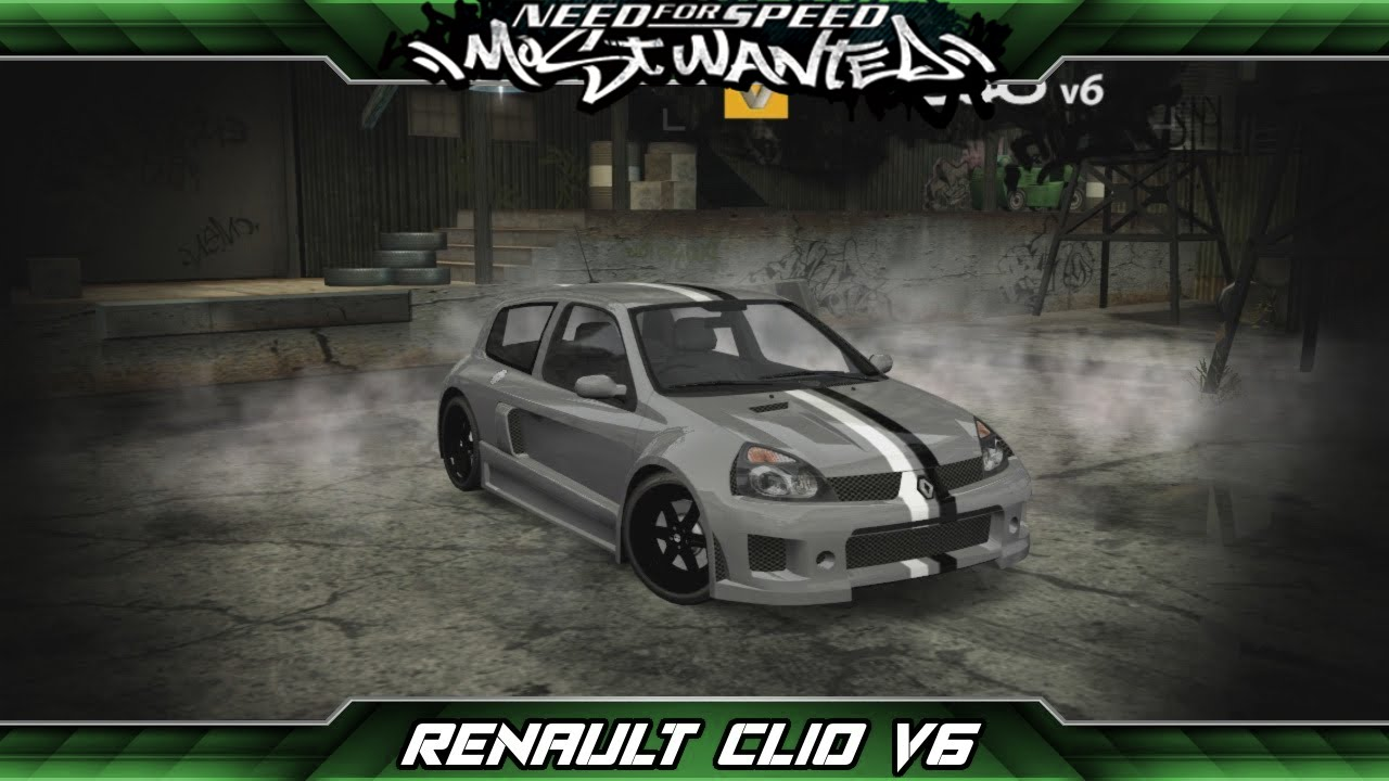 need for speed most wanted car build renault clio v6 youtube