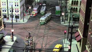Trolley Action in Wilmington DE on Charlie Grant's Layout