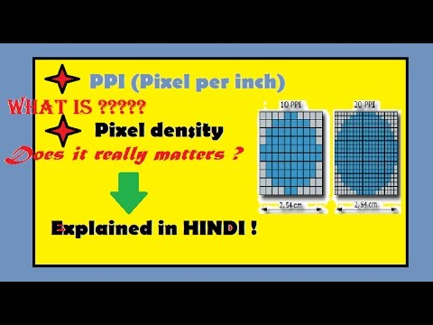 What is PPI (Pixel density)??? Does it really matters?? explained in HINDI