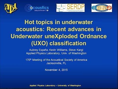 Hot Topics in Underwater Acoustics: Recent Advances in Unexploded Ordnance (UXO) Classification
