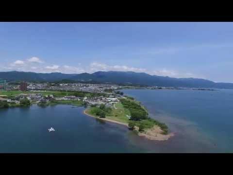 空撮動画 ウインドサーフィンスクール琵琶湖プライベートビーチ