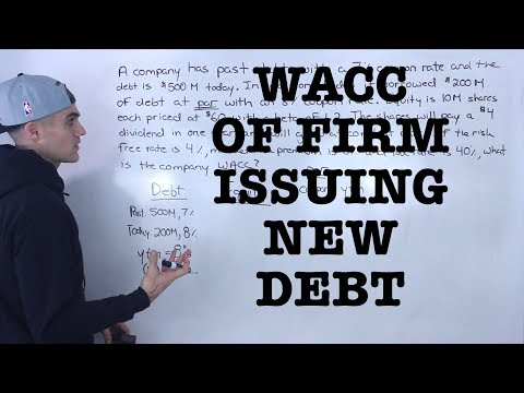 FIN 401 - Weighted Average Cost of Capital with New Debt - Ryerson University