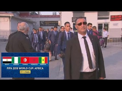Tunisia arrive in Russia ahead of World Cup