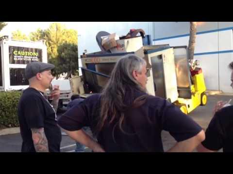 CNC Machine Tilts Forklift