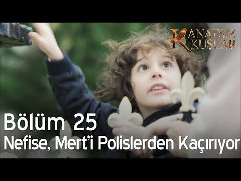 Kanatsız Kuşlar 25. Bölüm - Nefise, Mert'i polisten kaçırıyor