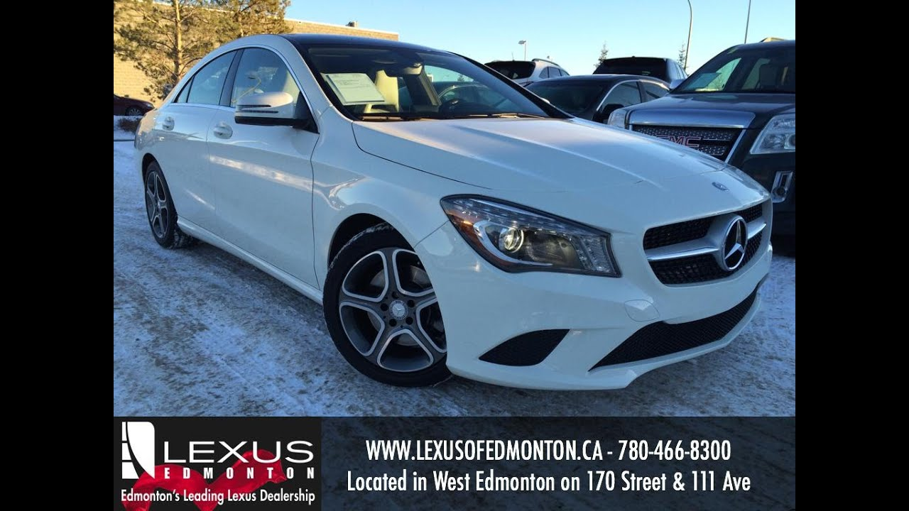 used white 2014 mercedes benz cla class cla250 4matic review nisku alberta youtube. Black Bedroom Furniture Sets. Home Design Ideas