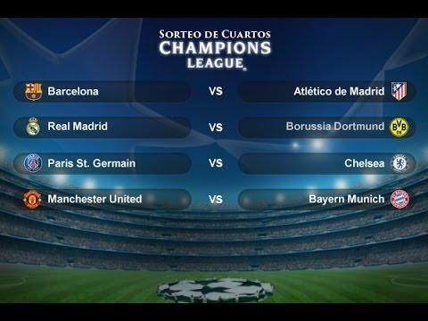 Analisis Sorteo Cuartos Champions League 2013-2014 - YouTube