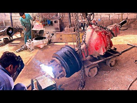How to REPAIR Broken Axle Of A Isuzu truck○Complete  Process||