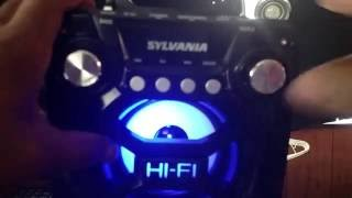 Sylvania LED Bluetooth Speaker Unboxing and First Impressions