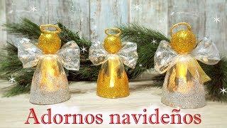 Manualidades para navidad fáciles y económicas reciclando | Decoración navideña 2017