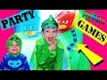 Disney PJ Masks Birthday Party For Gekko! PJ Masks Games & Giant Tent