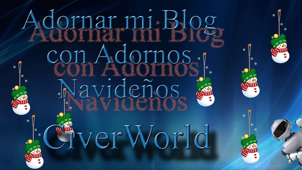 Adornar mi Blog con Adornos Navideños (muñeco de nieve) - YouTube