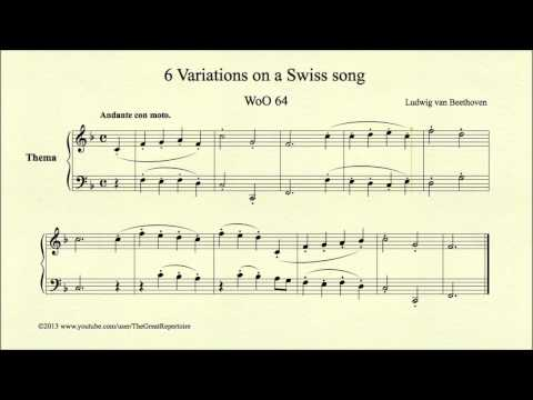 Beethoven, 6 Variations On A Swiss Song, WoO 64, Thema