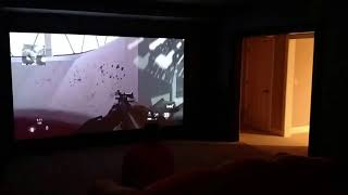 Gaming on 120 Inch Projection Screen