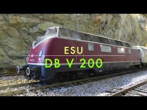 HO ESU (Loksound) DB V200 W/ Smoke First Run!