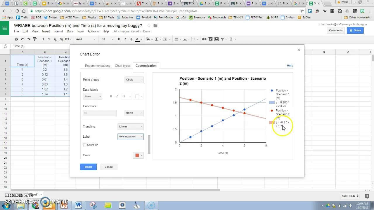 Tutorial How To Graph Multiple Data Sets On Same Graph Google