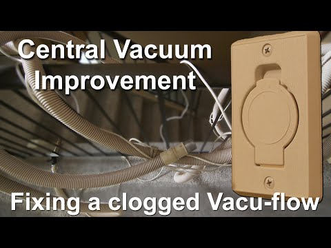 How I fixed my central vacuum system in my house (improving poor suction)
