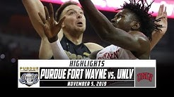 Purdue Fort Wayne vs. UNLV Basketball Highlights (2019-20) | Stadium