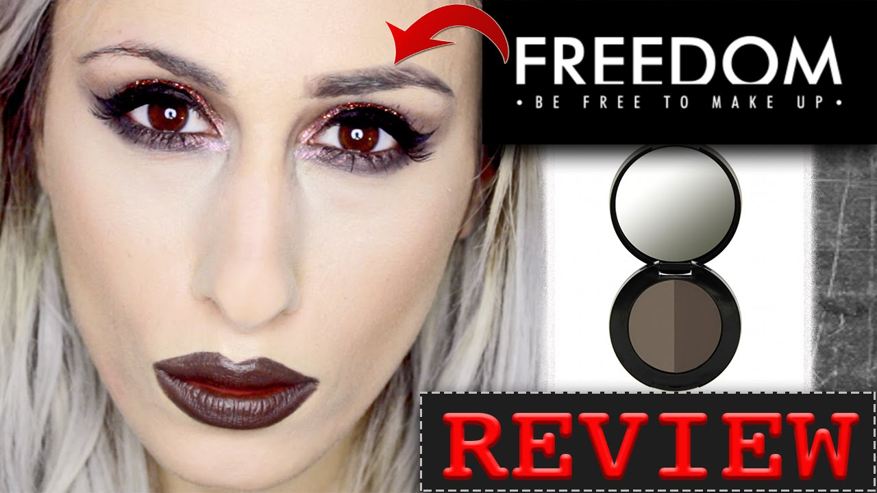 New Freedom Makeup Pro Duo Eyebrow Powder Review Swatches