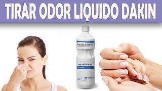 Como tirar o odor do liquido de Dakin
