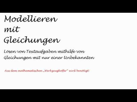 Modellieren mit Gleichungen - Aufgabe 1   Mathematik   Algebra - YouTube
