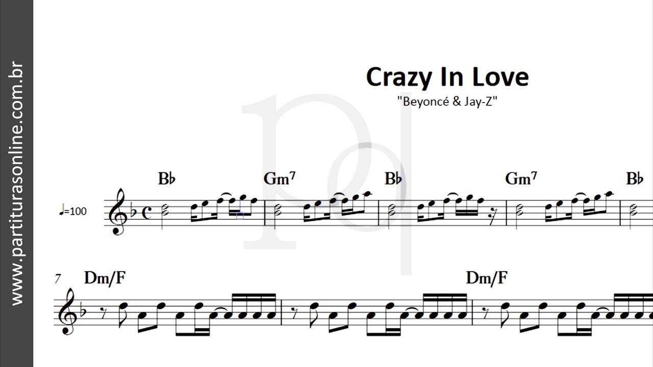 Crazy In Love Beyoncé Partitura Youtube