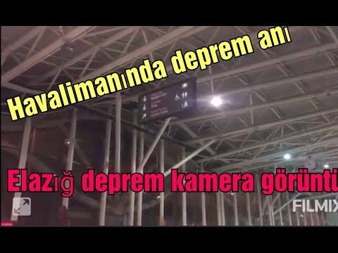 DEPREM ANI ELAZIĞ HAVA LİMANI/ YOLCULARIN PANİK ANLARI