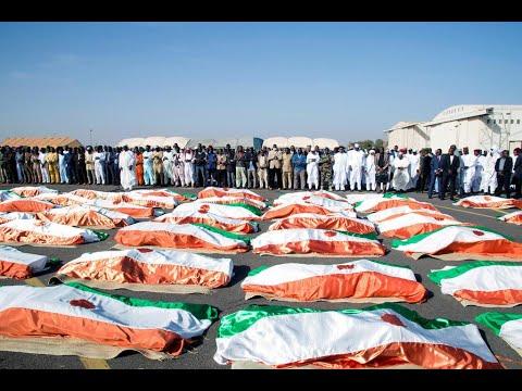 النيجر: مراسم تشييع رسمية لـ71 جنديا قتلوا في الهجوم الدامي على معسكر إيناتيس  - نشر قبل 4 ساعة