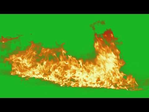 Green Screen HD - Fire chroma key