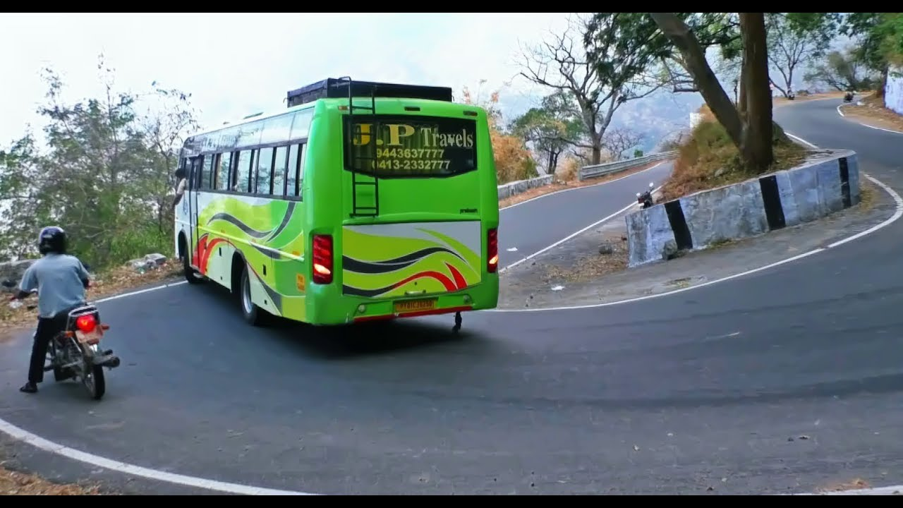 how to drive car or motor bike around a hairpin bend of a - 1280×720