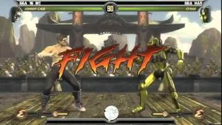 MK9 casuals, GGA Dizzy (Cage) vs GGA HAN (Cyrax)