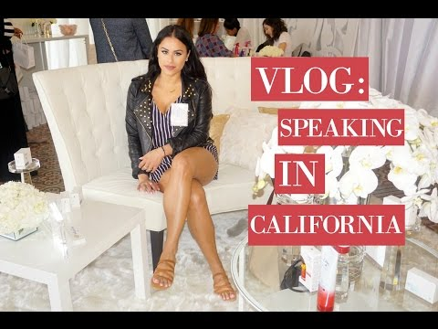 VLOG♡ Speaking In California