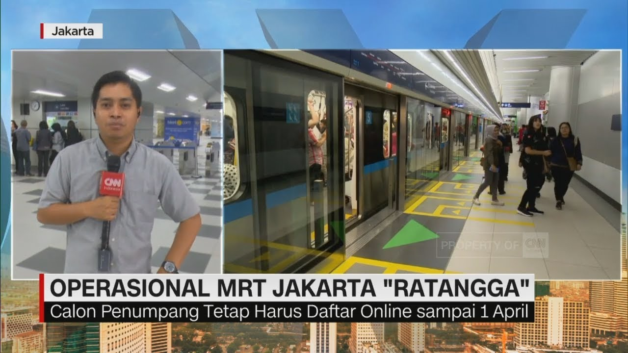 Hari Pertama Operasional Mrt Jakarta Ratangga Youtube