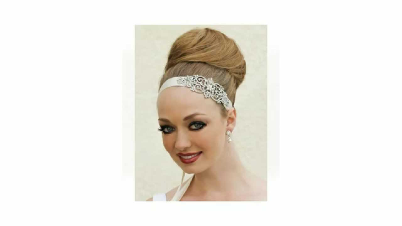 bridal hair accessories for a bridal top knot bun - youtube