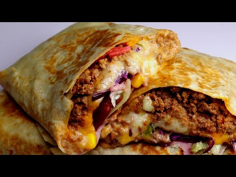 Beef Cheese Wrap,Beef burrito By Recipes of the World
