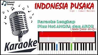 Karaoke Indonesia Pusaka dengan not angka dan akor (HD AUDIO)