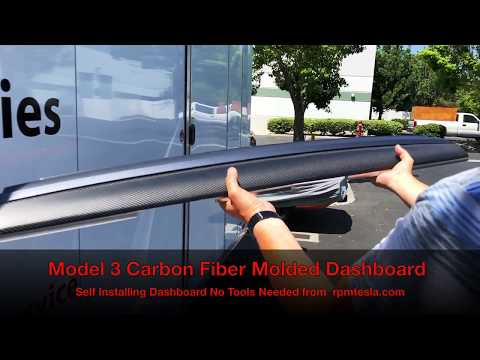 TESLA Model 3 Carbon Fiber Dashboard.  Self Installing
