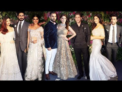 Virat-Anushka's Grand Wedding Reception In Mumbai - Shahrukh Khan, Katrina Kaif, Ranbir Kapoor...
