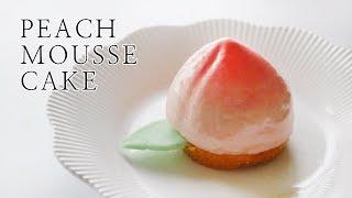 노오븐!복숭아 무스 케이크 만들기(peach mousse cake)ㅣ몽브셰(mongbche)