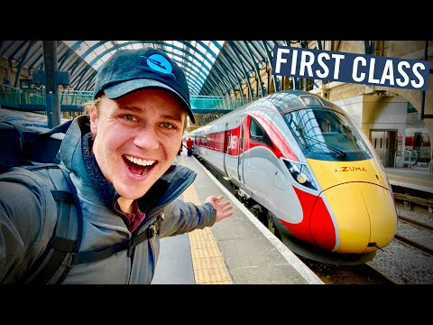 FIRST CLASS on Britain's High Speed Train - The AZUMA