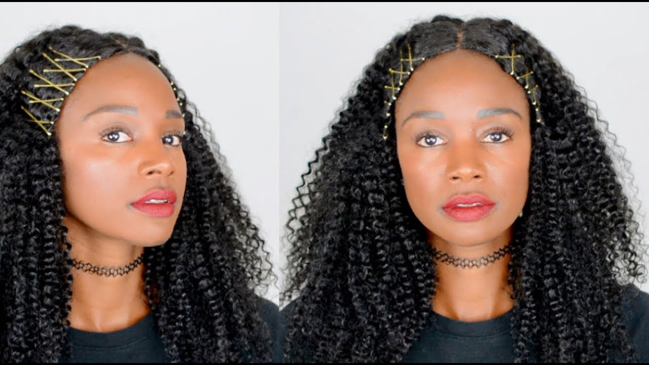 Tutorial Exposed Bobby Pins For Natural Hair Or A Curly Wig Youtube