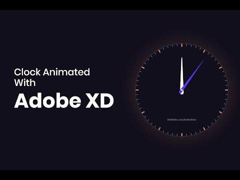 Clock Animation With Adobe XD (Full Version)
